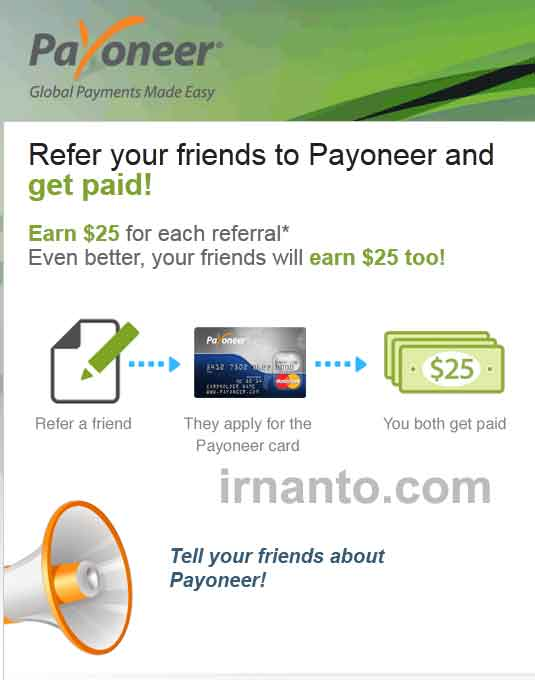 call referral payoneer
