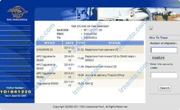 EMS Shipping Status
