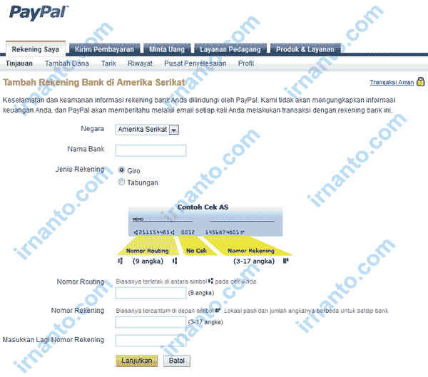 How to Add Bank Account American in Paypal
