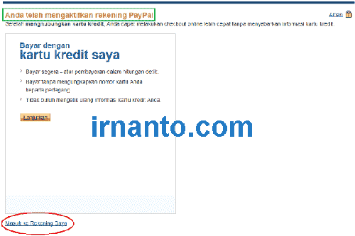 Tutorial Paypal Registration Has Activate Account Paypal