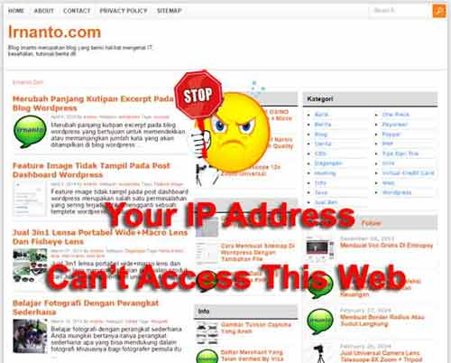 Block IP Address Visitor Blog