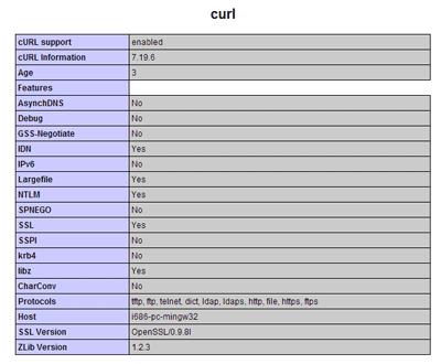 aktifasi fungsi php curl