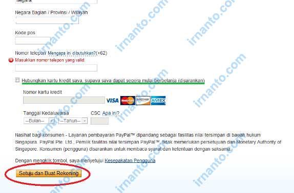 tutorial pendaftaran paypal setuju buat paypal