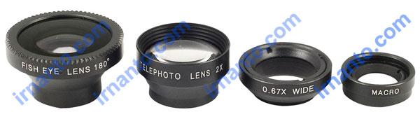 Jual Lensa hp portabel universal 4 fungsi 1 paket murah irnanto.com