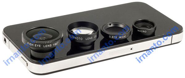 Jual Lensa hp portabel universal 4 fungsi 1 paket murah meriah irnanto.com
