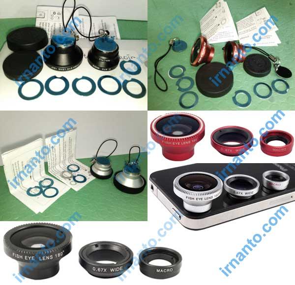 Jual 3in1 lensa portabel wide macro lens dan fisheye lens - irnanto.com