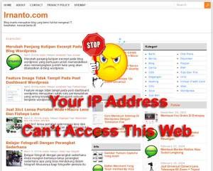 Block IP Address Pengunjung di Blog