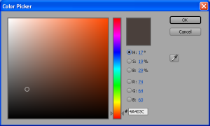 color determines the color picker