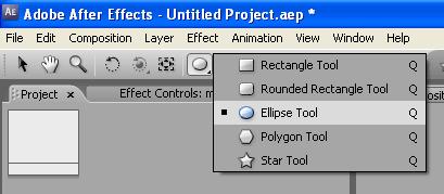 elipse tool - menampilkan elipse tool membuat shape oval