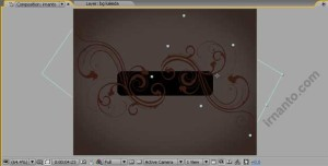 hasil duplikat rotation dan pergeseran objek di after effects