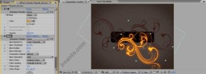 hasil effek glow radius dan perubahan fill color di after effects
