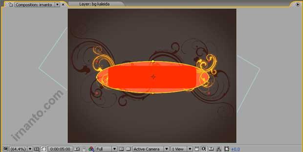 hasil pemilihan shape elipse tool pada layer