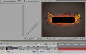 hasil perubahan posisi layer papan after effects