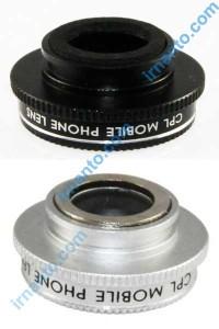 lensa filter warna hitam dan silver