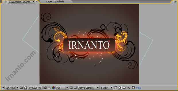 pembuatan title di after effects