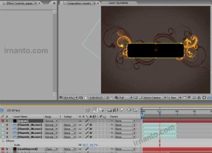 perubahan posisi layer di after effects