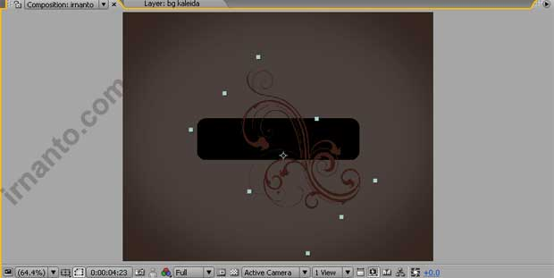 rotation dan pergeseran objek di after effects