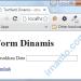 Form Dinamis - Awal Load di Browser