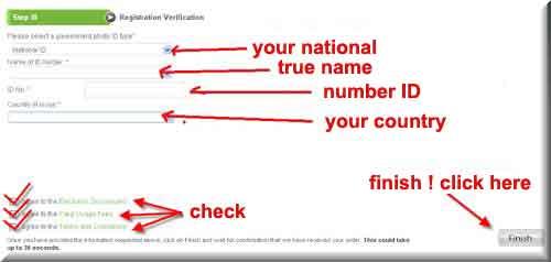 form verification information payoneer