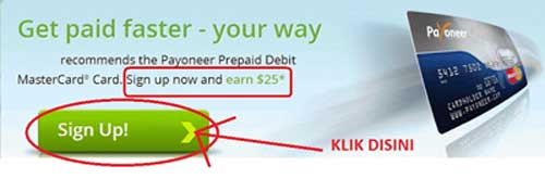 tutorial how to register payoneer - sign up