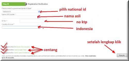 gambar form verifikasi irformation payoneer