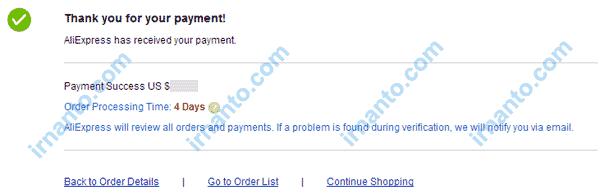 Belanja di aliexpress menggunakan vcc entropay payment sukses irnanto.com