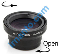 Jual VEENTOOK OSINO 0.67x Wide Angle Micro Lens Kit camera - ubah lensa wide ke makro - irnanto.com