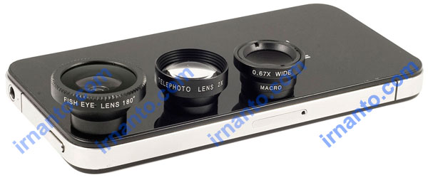 Jual Lensa hp portabel universal 4 fungsi 1 paket murah telephoto + fisheye + wide + macro - irnanto.com