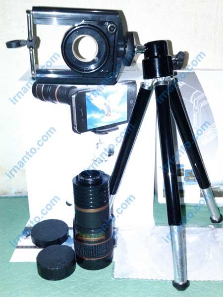 jual universal camera lens telescope 8x zoom + tripod irnanto.com