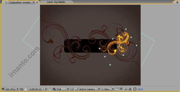 hasil perubahan radius full dan fill color di after effects