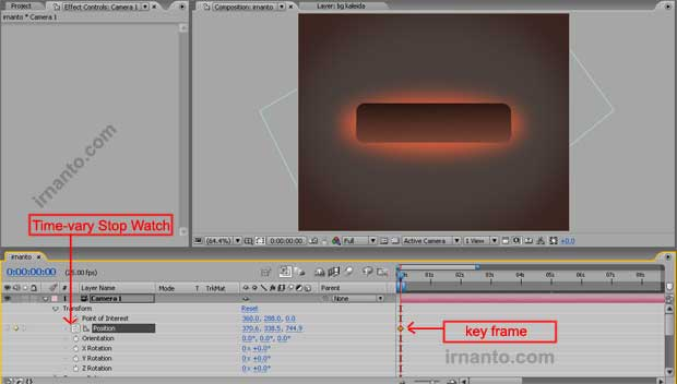 pembuatan key frame di after effects