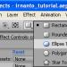pemilihan shape elipse tool di after effects